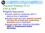 practical training f 1 cpt opt
