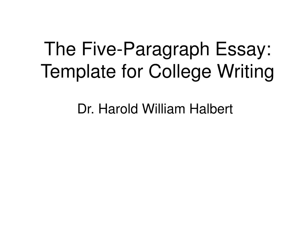 the five paragraph essay template for college writing l.