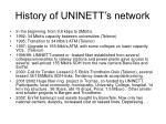 history of uninett s network