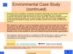 environmental case study continued