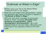 outbreak at water s edge