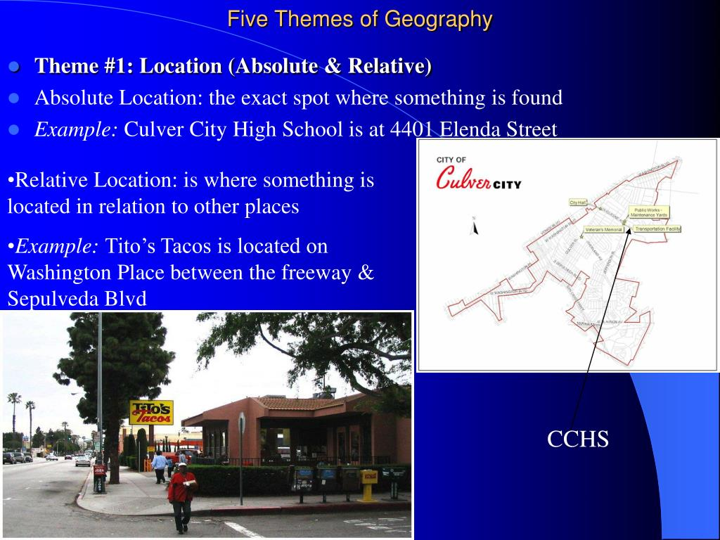 five themes of geography l.