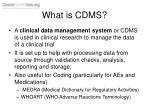 what is cdms