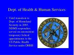 dept of health human services