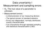 data uncertainty i measurement and sampling errors