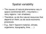 spatial variability1