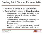 floating point number representation