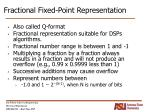 fractional fixed point representation