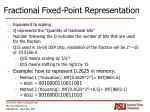 fractional fixed point representation6