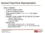 general fixed point representation
