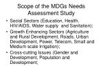 scope of the mdgs needs assessment study