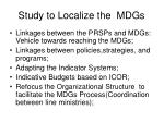 study to localize the mdgs