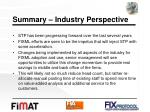 summary industry perspective
