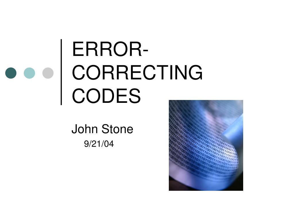error correcting codes l.