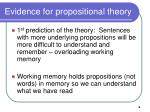 evidence for propositional theory