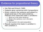 evidence for propositional theory10