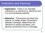implication and inference