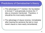 predictions of gernsbacher s theory