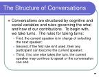 the structure of conversations
