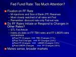 fed fund rate too much attention