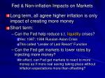 fed non inflation impacts on markets