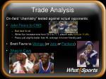 trade analysis