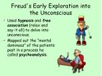 freud s early exploration into the unconscious