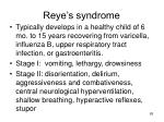 reye s syndrome