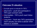 outcome evaluation13