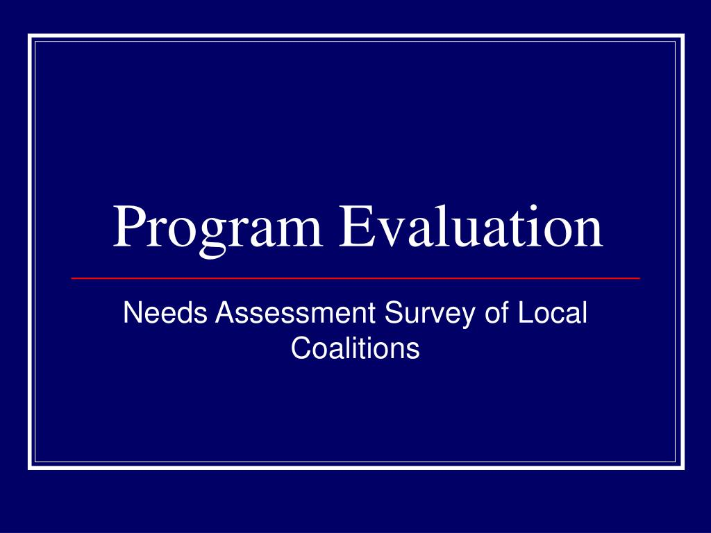 program evaluation l.