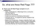 so what are these red flags