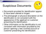 suspicious documents