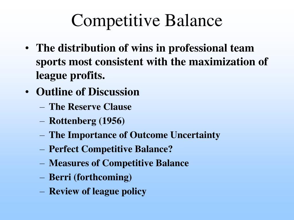 competitive balance l.