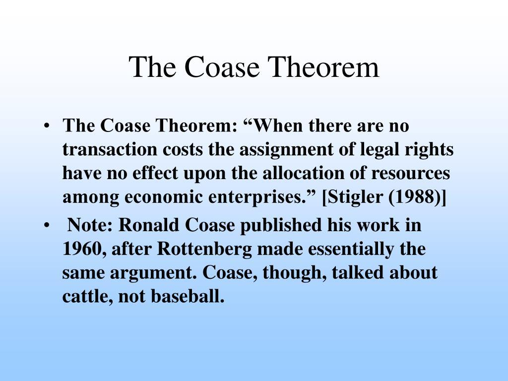 The Coase Theorem