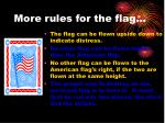 more rules for the flag