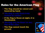 rules for the american flag