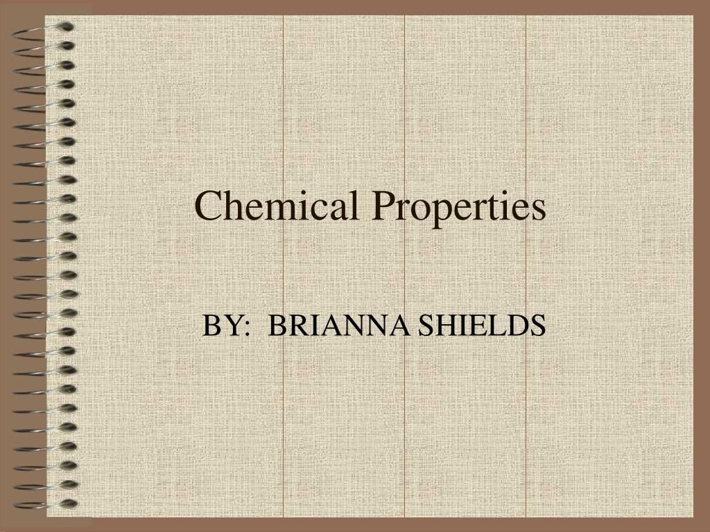 chemical properties l.