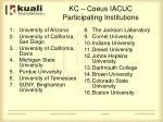 kc coeus iacuc participating institutions