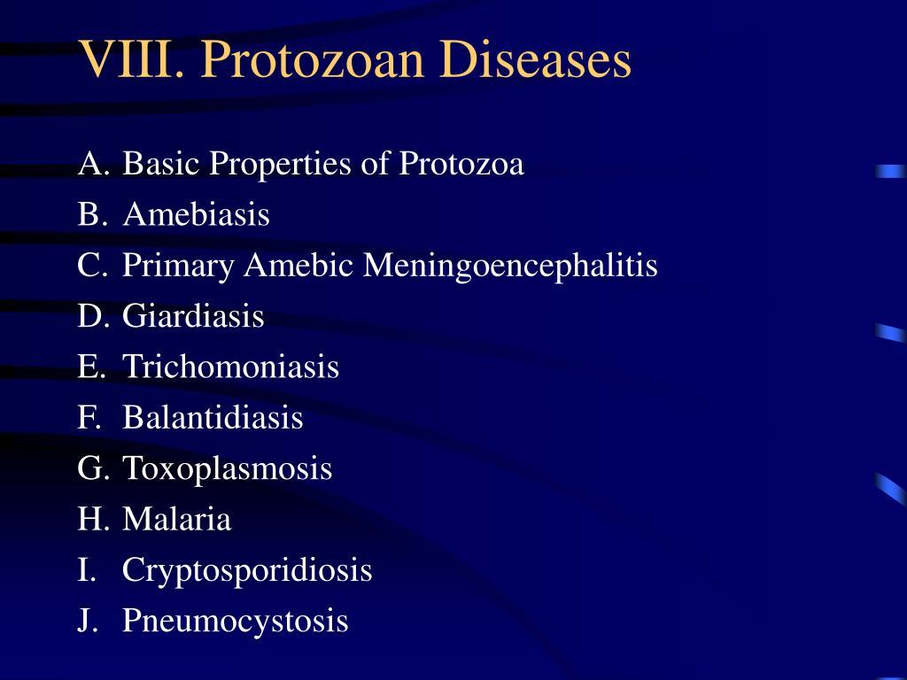 viii protozoan diseases l.
