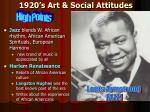1920 s art social attitudes