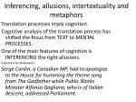 inferencing allusions intertextuality and metaphors