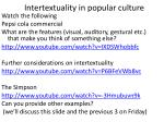 intertextuality in popular culture