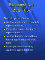 exchange act rule 10b 5