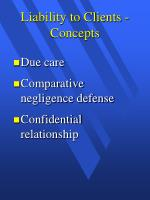 liability to clients concepts