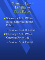 statutory law liability to third parties