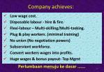 company achieves