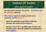 contract of service kontrak perkhidmatan
