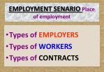 employment senario place of employment