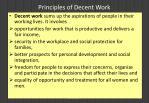 principles of decent work57
