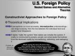 u s foreign policy nested games and alternative theories9